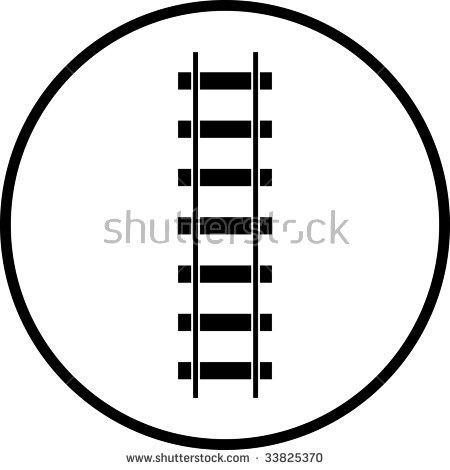 Train Rail Road Symbol Stock Illustration 33825370.