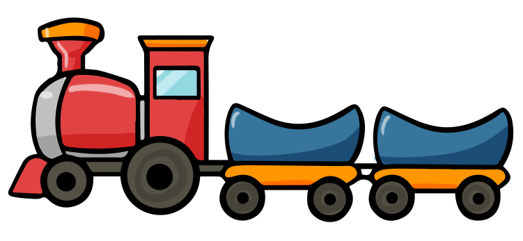 Cartoon Train Image.
