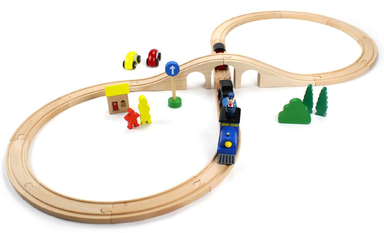 Wooden train clipart.