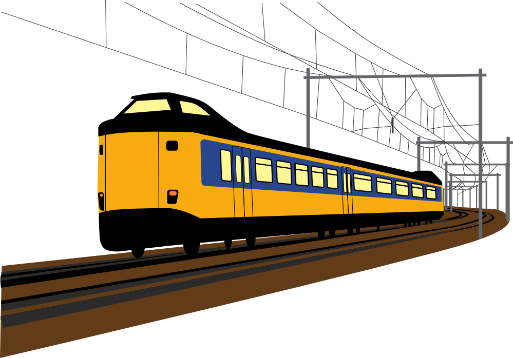 Rail ticket system clipart.
