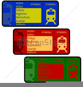 Free Clipart Of Train Tickets.