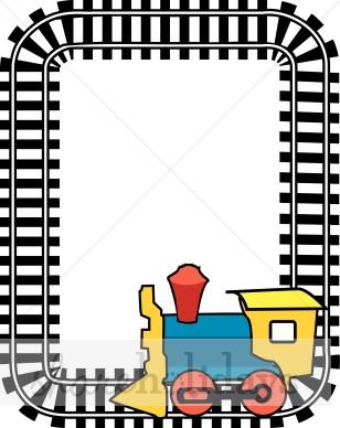 Train Track Border Clipart.
