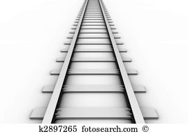 Clip art train tracks.