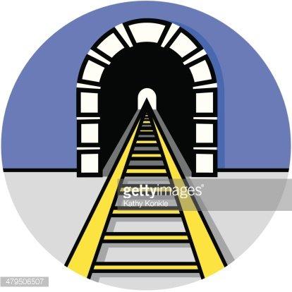 Train Tunnel Icon premium clipart.