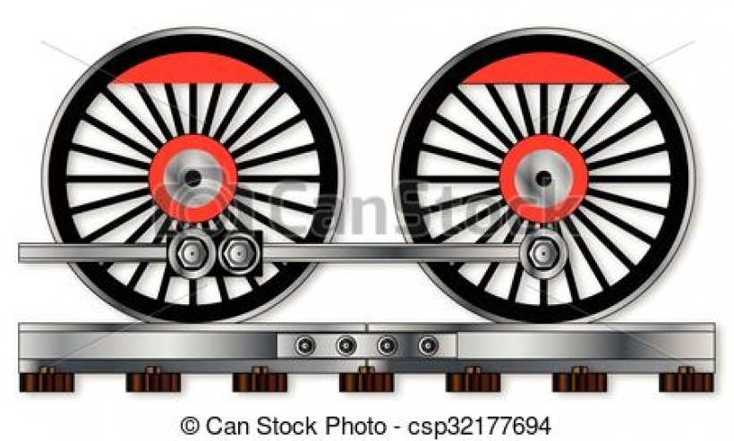 eps vectors of pair of train wheels a pair of connected steam High.