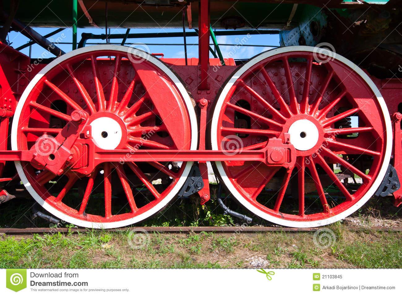 Train Wheel Stock Images.