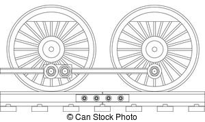 Train Wheels Clipart.