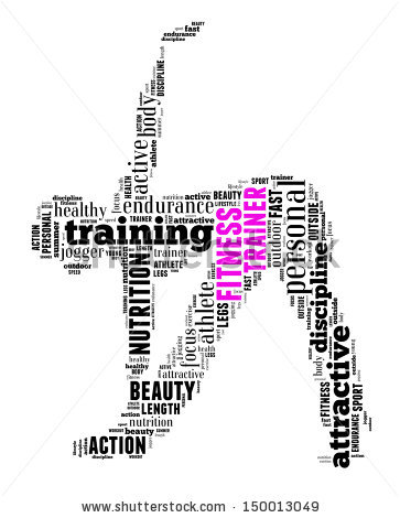 Fitness Trainer Clipart.