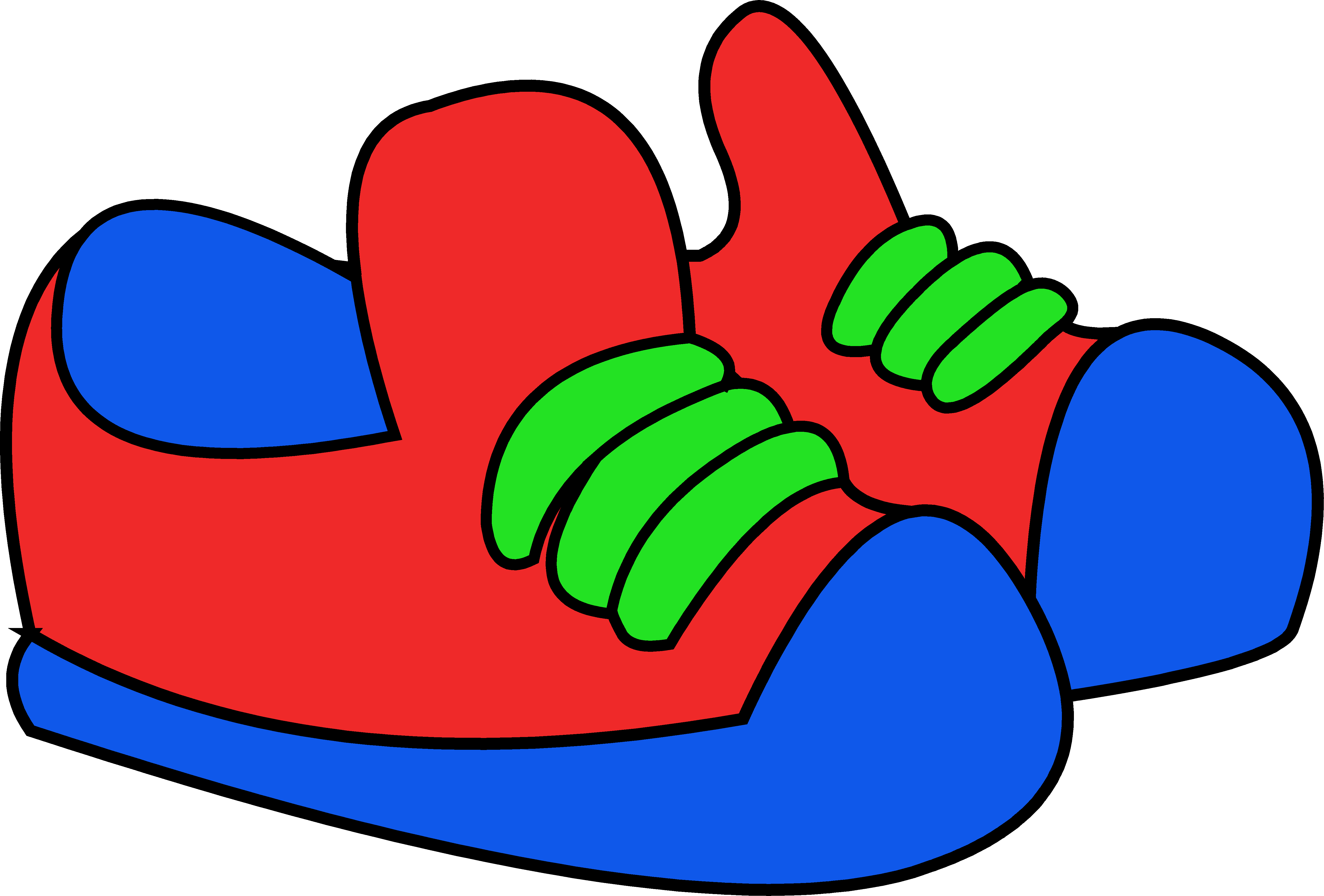 Animated Shoes Walking Clipart.