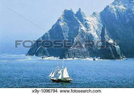 Stock Photo of Irish Navy sail training ship Asgard II seen from.