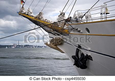 Stock Photography of sailing ship.