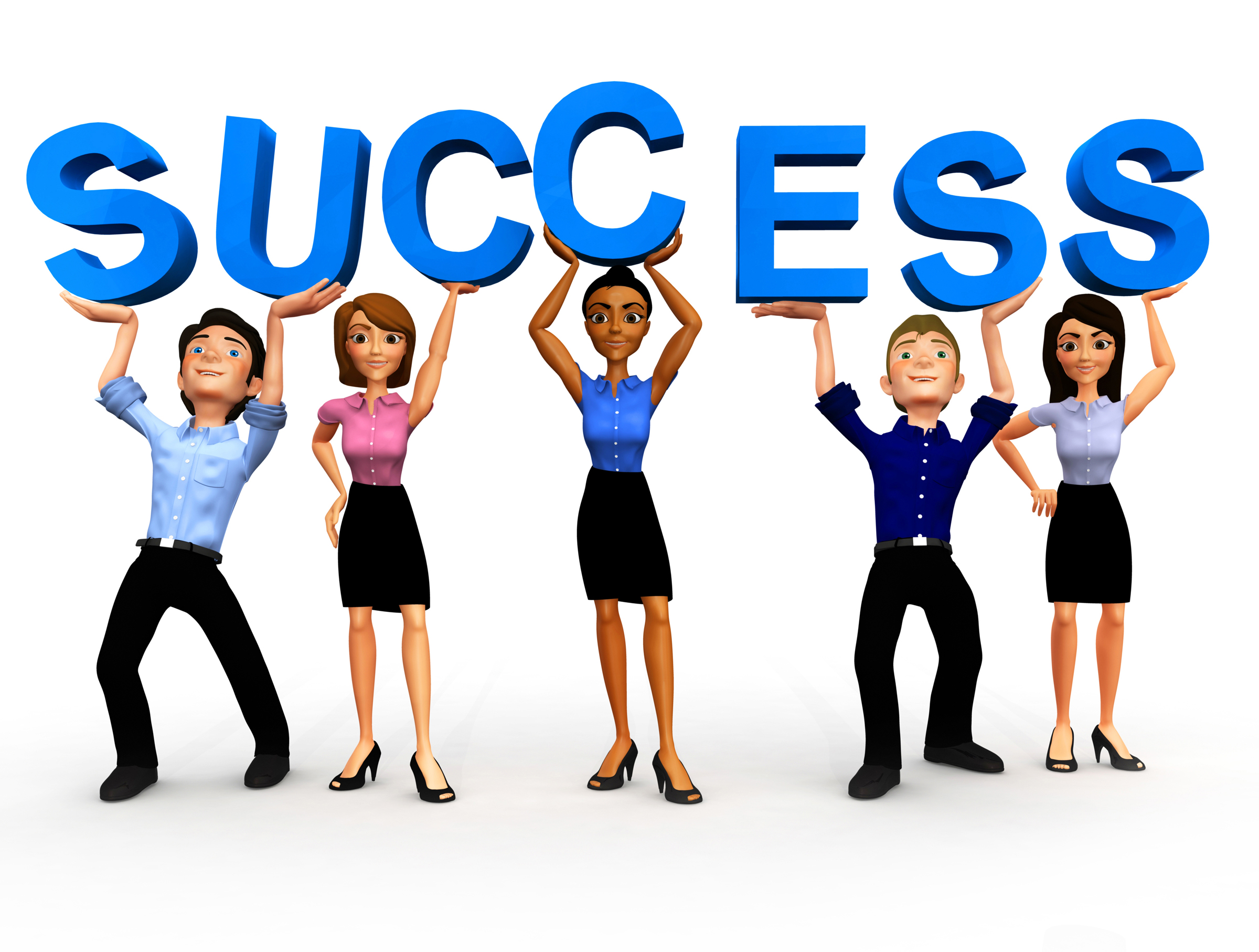 Success clip art.