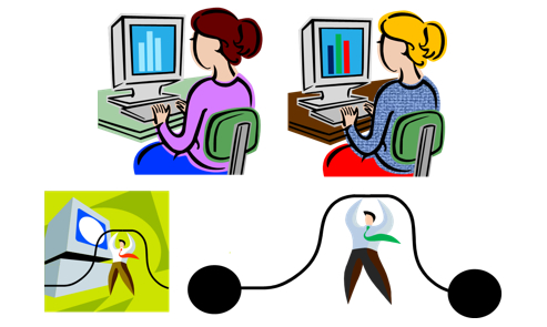 Online Learning Success Clipart.