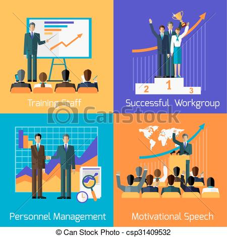 Vectors of Business Training. Success Motivational Managment.
