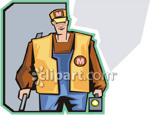 Clipart Picture of a Trainman.