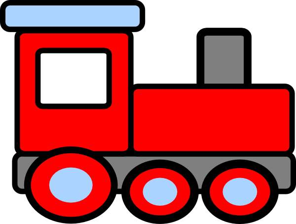 Happy trains clipart.