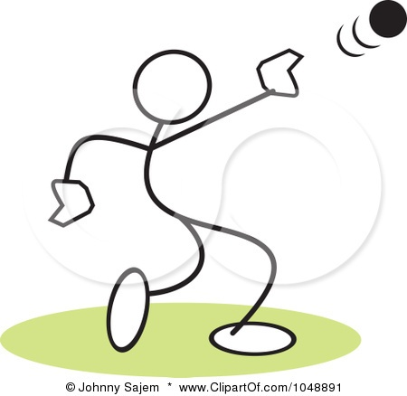 Clip art shot put thrower cliparts.