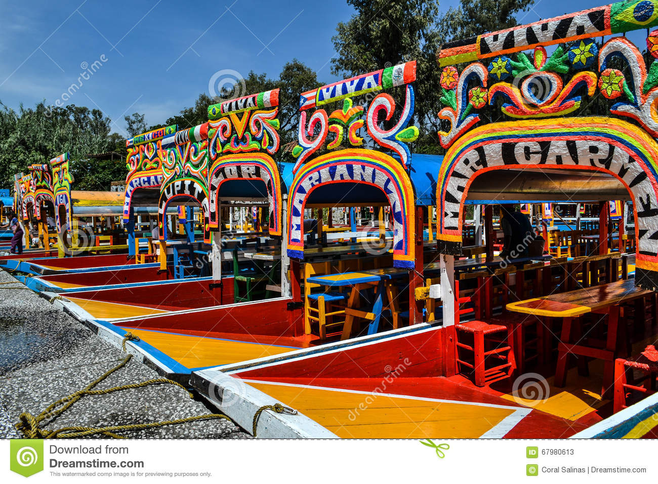 Trajineras De Xochimilco Editorial Stock Photo.