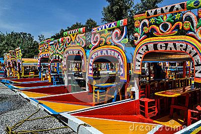 Trajinera De Xochimilco Editorial Image.