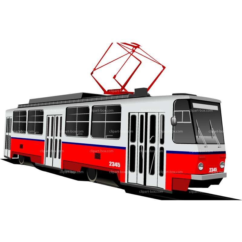 Tram clipart.