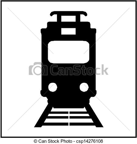 Vector Clipart of tram isolated icon.