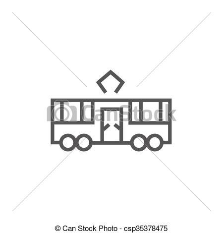 Vectors Illustration of Tram line icon..