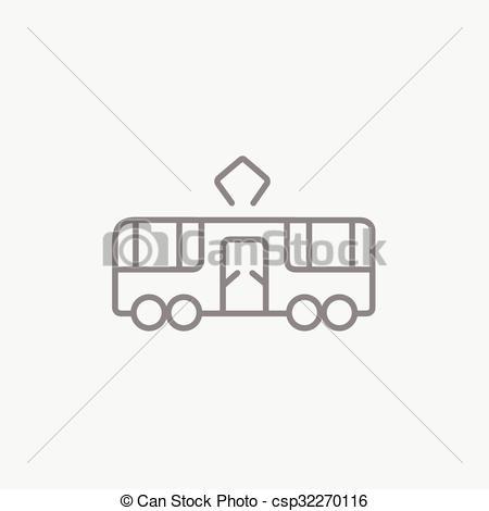 Vector Clip Art of Tram line icon..