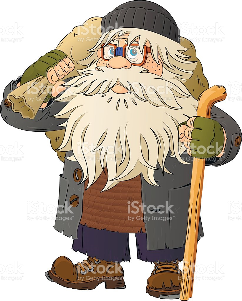 Homeless Man The Tramp Bum stock vector art 614412144.
