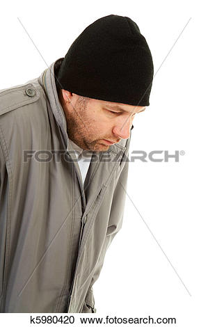 Stock Photography of male homeless tramp k5980420.