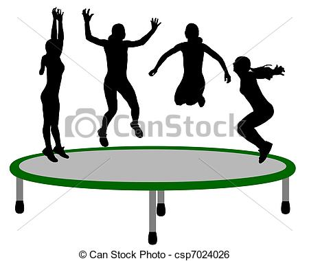 Trampoline Illustrations and Clip Art. 857 Trampoline royalty free.
