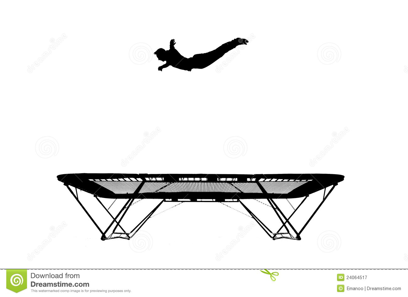 Trampoline And Tumbling Clipart.