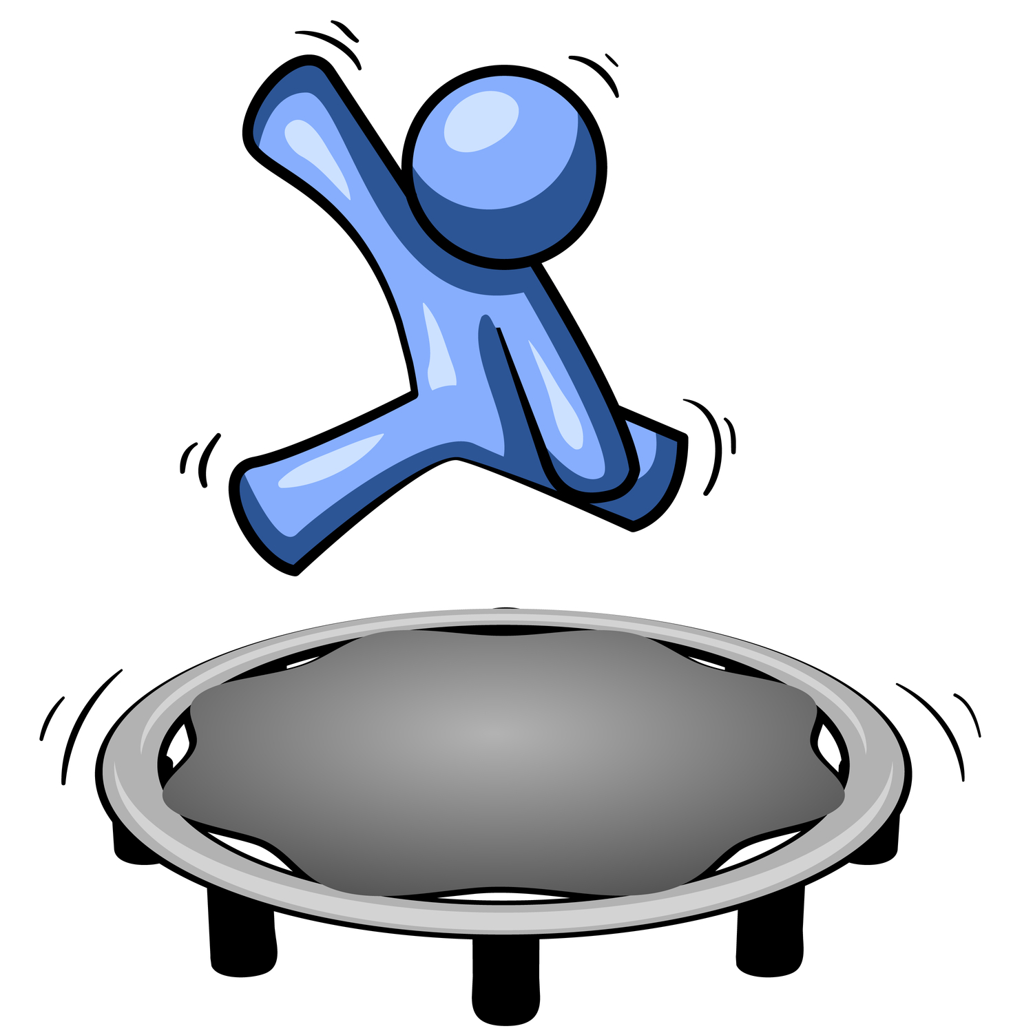on a Trampoline Clipart.
