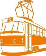 Tramway clip art Free Vector.