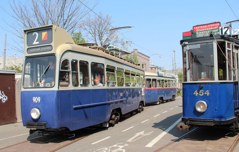 Electrische Museumtramlijn Amsterdam welcome.