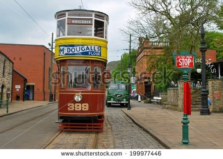Museum Streetcar Stock Photos, Royalty.