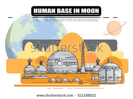 Moon Base Stock Photos, Royalty.