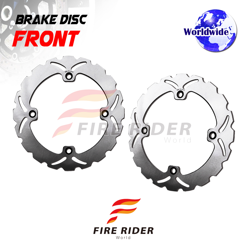 FRW 2x Front Brake Disc Rotor For HONDA XL V 700 TRANSALP ABS 08.