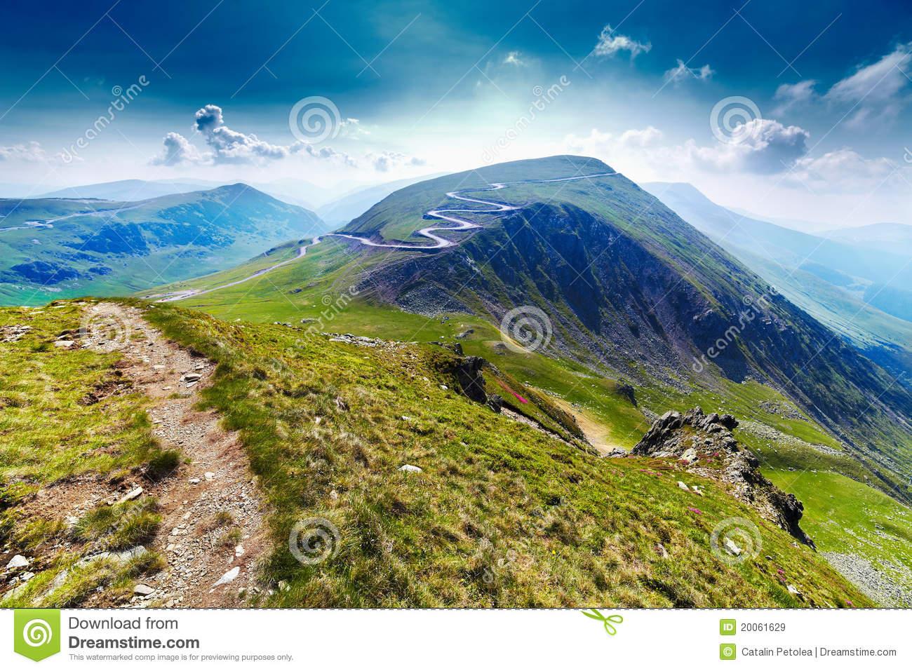 Transalpina Road And Urdele Peak In Romania Royalty Free Stock.