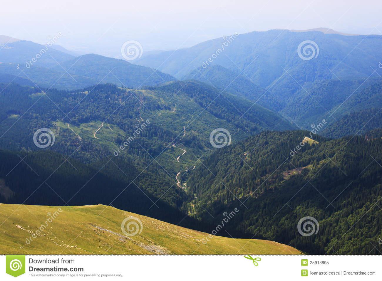 Beautiful Scenery From Transalpina Royalty Free Stock Photo.