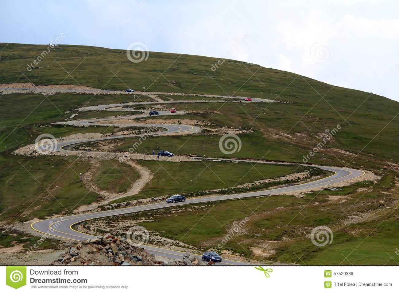 Transalpina Road, Transylvanian Alps, Romania Stock Photo.