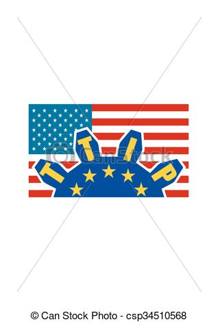 Clip Art Vector of TTIP.