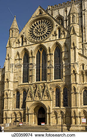 Stock Photo of England, North Yorkshire, York, The South Transept.