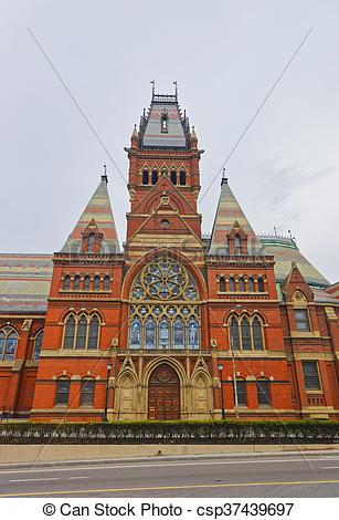 Stock Photographs of Transept of Memorial Hall of Harvard.