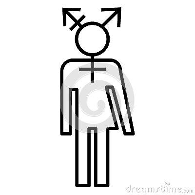 Símbolo Del Icono LGBT Del Transexual Foto de archivo libre de.