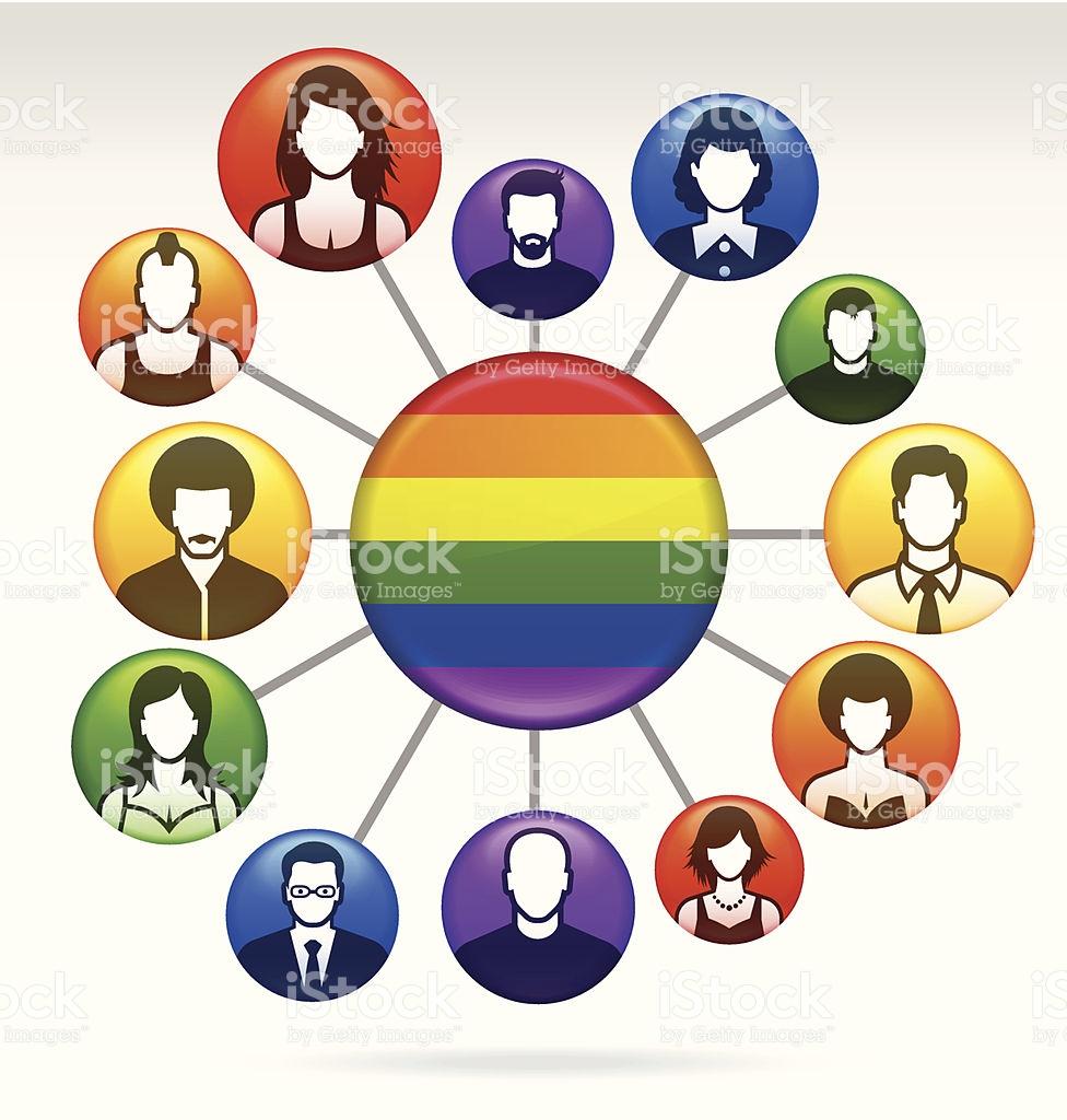 Bandera Del Arco Iris Gays Lesbianas Bisexuales Y Transexuales.