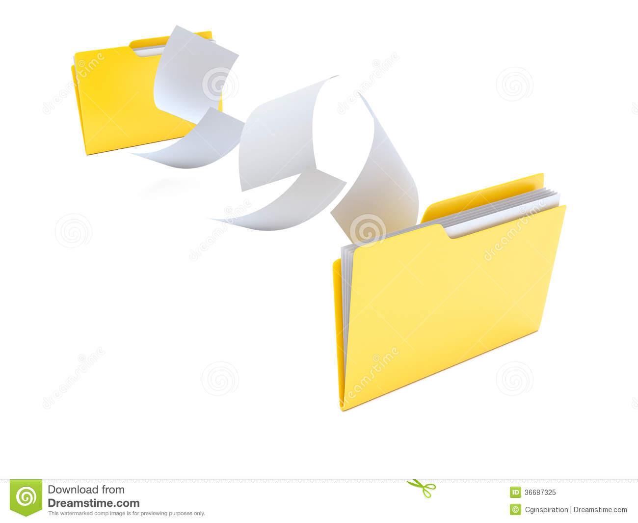 File transfer clipart.