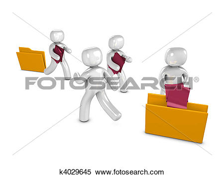 Stock Illustration of File transfer k4029645.