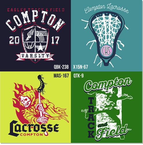 New Track and Lacrosse Layouts and Clip Art for Custom T.