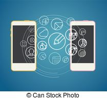 Information transfer Clipart Vector and Illustration. 7,713.