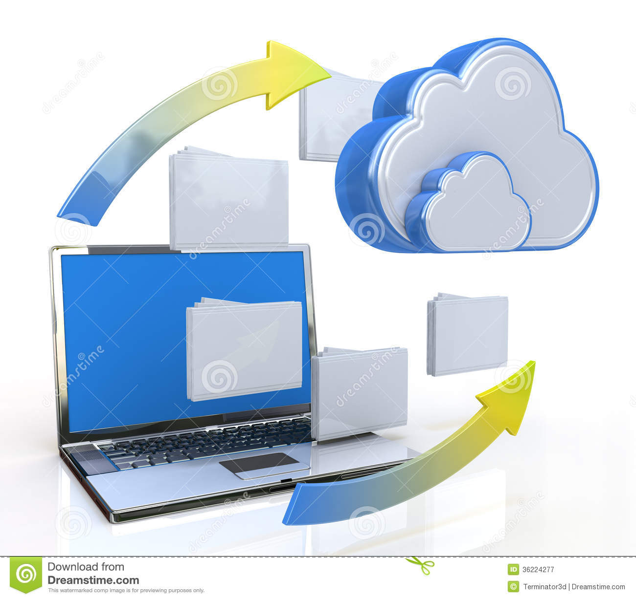 Transferring Data To A Cloud Royalty Free Stock Photography.
